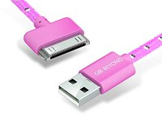 Go Beyond (TM) 10 Feet 30 Pin Nylon Braided Premium USB Charging Data Sync Cable for Apple iPod, iPhone, and iPad (10FT Pink Nylon Cable):   br/WHY YOU SHOULD CHOOSE GO BEYOND NYLON BRAIDED CHARGING CABLES?/bbr/br/As always, GO BEYOND /b emphasizes product quality and customer satisfaction is always our first priority. br/br/ Our 30 Pin Nylon Braided cables are specially made for charging and Syncing iPhone (1/ 2/ 3G/ 3GS/ 4/ 4S), iPad (1 /2 /3), iPod Touch (1 to 4), iPod Nano (1 to 6)...