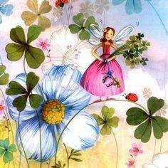 Corinne Demuynck Illustrations, Illustration Art, Baby Painting, Decoupage Paper, Naive Art, Fairy Land, Whimsical Art, Painting Inspiration, Coloring Books