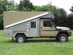 Mercedes G mit Schachteldach 4x4 Camper Van, Truck Camper, Mercedes G, General Motors, Land Rover Defender, Trailers, Camper Shells, Adventure Campers, Expedition Vehicle