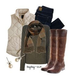 Dear Stitch Fix Designers- I really would a love a neutral puffy vest in this fix that could be worn over a cute sweater! Vest Outfits, Casual Outfits, Cute Outfits, Fashion Outfits, Womens Fashion, Fashion Vest, Fashion Tips, Fall Winter Outfits, Autumn Winter Fashion
