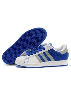 Adidas Superstar 2 Chaussure Femme Blanc/Bleu/Gris2uoDZx