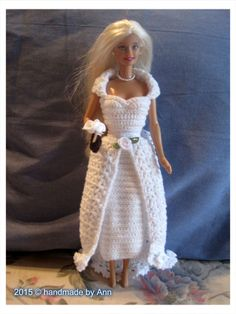 New Diy Wedding Dress Patterns Gowns Doll Clothes Ideas Wedding Dressses, Diy Wedding Dress, Wedding Dress Patterns, Diy Dress, Barbie E Ken, Barbie Dress, Barbie House, Accessoires Barbie, Crochet Barbie Clothes