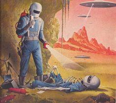 retro-future, science fiction, retro-futuristic, sci-fi art