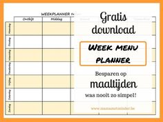 Hoe stel je een weekmenu samen? Met gratis planner! – Mama met minder