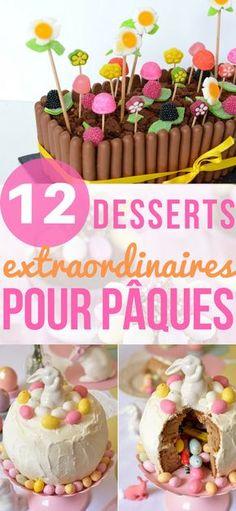 Desserts de Pâques #dessert #desserts #paques #recette #recettefacile #easter #easterrecipes