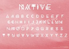 "Awesome font called ""Native"". Must buy this."