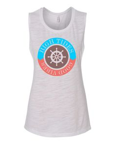High Tides and Good Vibes  muscle tanktop for beach vacations or those who need some vitamin sea by yogatops on Etsy