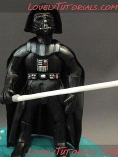 Darth Vader (Star Wars) cake topper tutorial