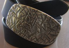 Gold Belt Buckle Hand Forged Stainless Steel by ironartcanada, $100.00