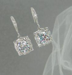 Bridal Earrings Vintage style Swarovski Crystal by CrystalAvenues, $34.00