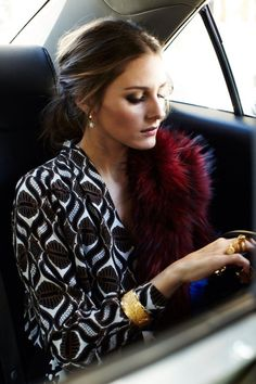 Olivia Palermo- red fur