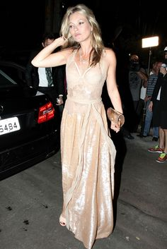 Kate Moss in Givenchy Couture Gown at 2015 amfAR Inspiration Gala in São Paulo