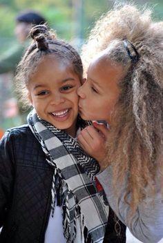 sister love @ biracial & mixed hair