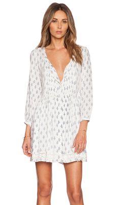 Tularosa Kennedy Dress in White & Navy   REVOLVE