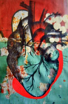 Textile & Mixed Media Art Works Head Heart & Textile File