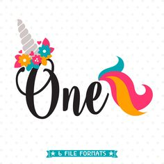 Unicorn Birthday SVG, 1st Birthday SVG, Unicorn Party svg, First Birthday iron on file, 1st Birthday Shirt SVG file, One Years Old cut file by queenSVGbee on Etsy