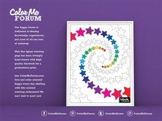 New Coloring Page: Star Spiral - Color Me Announcements - Color Me Forum