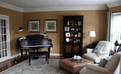 interior: Heavenly Couch Front Square Table On Carpet Motive Right For Piano Decorations With Nice Stand Lamp And Wood Storage Plus Interesting Pictures - Spectacular Piano Decorations with Attractive Interior Spaces, Luxury Busla: Home Decorating Ideas and Interior Design