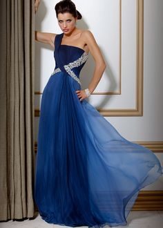 Cross Waist Chiffon Gown, Evening Dress Style 7139