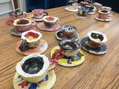 Clay teacups and saucers project for K-5