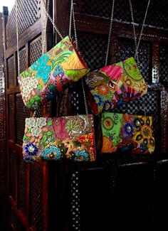 Add an Indian touch to your look, this festive season! Multicoloured cotton sling clutch, with matching lining, lace patches and embroidery. Size: 18 cms x 12 cms Special Price: Rs 600 For details of the products and to place an order, you can whatsapp on 9999968917, +34630292108 or email at veralikasingh@hotmail.com or maddy_rawat@hotmail.com.