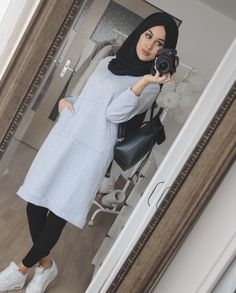 Fashion Tips Over 40 .Fashion Tips Over 40 Modern Hijab Fashion, Muslim Women Fashion, Hijab Style Tutorial, Modele Hijab, Hijab Fashionista, Outfit Look, Casual Hijab Outfit, Fall Fashion Outfits, Fashion Tips