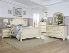 Inglewood Bedroom Set in Whitewash