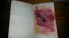 Ilandi Barkhuizen. Watercolor on paper. 2014. wounds series, artist book