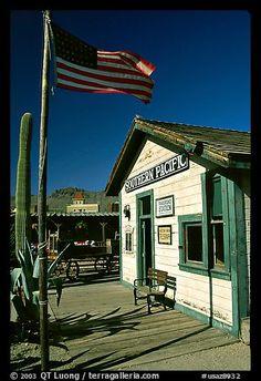 Railroad station, Old Tucson Studios. Tucson, Arizona, USA