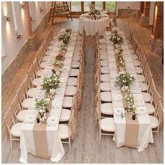 40+ Hessian Wedding Ideas - hessian table runners #weddingideas #hessianwedding #rusticweddingideas