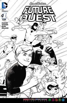 DC Comics - Future Quest #1 - Coloring Book Variant Cover