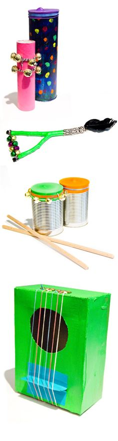 Make instruments of recycled materials!