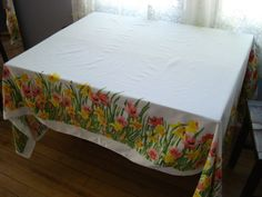 Vintage 1970s Vera Tablecloth Banquet Table 2013359 by bycinbyhand, $55.00