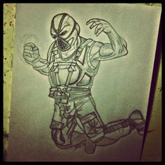 My drawing of Bane is now officially finished!!! - @foxymama923- #webstagram
