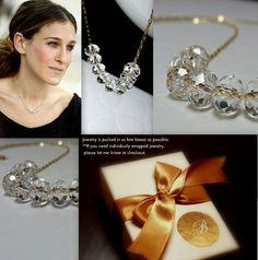 Sex and the City Carrie Bradshaw Diamond Necklace 14K
