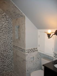 Sloped Ceiling Small Bathroom