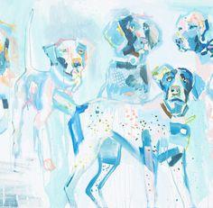 """Sammy, Eli, Laney, Spot, Libby & Megan"" 36×60 on gallery wrap"
