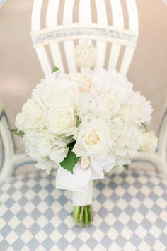 White Bouquet | See the wedding on Style Me Pretty: http://www.stylemepretty.com/florida-weddings/vero-beach/2013/12/31/johns-island-club-wedding/  Amalie Orrange Photography