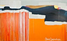 """""""Surfaces"""" by Claire Desjardins - 60""""x36"""" - Acrylics on canvas. 2011. Private collection."""