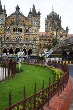 Victorian structure of  the Mumbai Central Station, India.