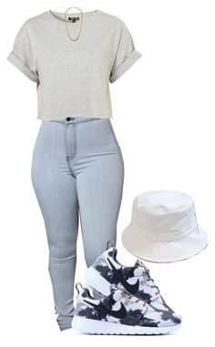 """Untitled #358"" by livingfaded ❤ liked on Polyvore featuring Topshop, Claude Montana and NIKE"