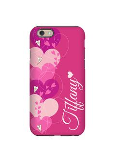 Pink Hearts Personalized iPhone Case