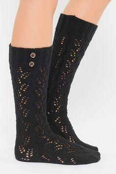 black button boot socks | Lucky Kat