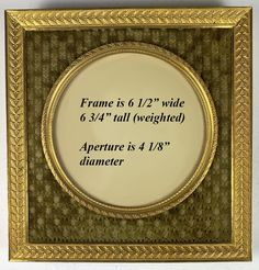 """Antique French Dore Bronze 6.5"""" Square Frame, Easel Stand or Hang, Silk Mat Nicely Done, French Fabric, Antique Frames, Old Things, Things To Sell, Old Ones, Fabric Covered, Easel"""