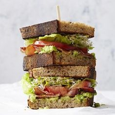 BLATs (Bacon-Lettuce-Avocado-Tomato Sandwiches)  - EatingWell.com