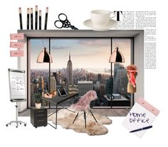 """Home Office"" by marionmeyer on Polyvore featuring interior, interiors, interior design, Zuhause, home decor, interior decorating, Komar, UGG Australia, Ghidini 1961 und Design Ideas"