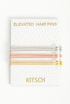 white gold, gold + rose gold bobby pins