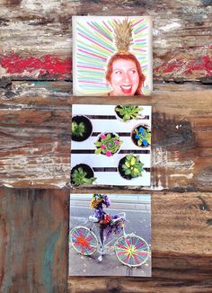 DIY: Photo Art with Blacks Photo Instagram Prints and embroidery thread / The Sweet Escape