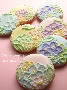 easter or spring cookies.  Love the colors