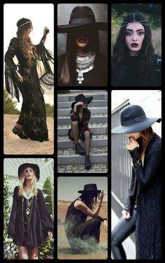 Gothic Bohemian Style Inspiration, goth fashion, boho goth, Halloween fashion #goth #boho #bohemian